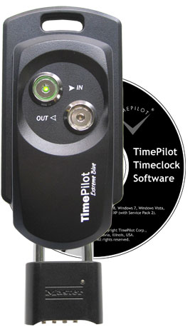 TimePilot Extreme Blue Enhanced timeclock with lock and CD.