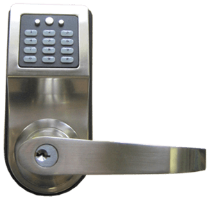 The CrossOver X25 iButton door lock. Click to visit CrossOverLock.com.