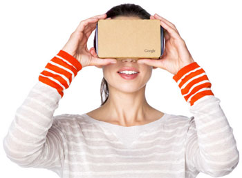Google Cardboard is an inexpensive device that gives you a look at virtual reality.